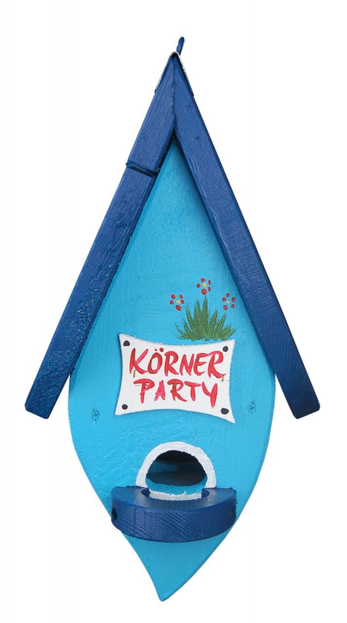 B-Ware Futterblatt Körnerparty Vogelhaus Blau