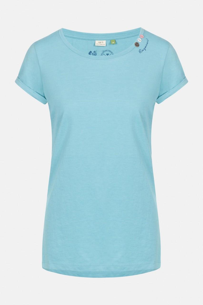 Ragwear Florah A Organic Aqua Damen T-Shirt Aquablau Türkis