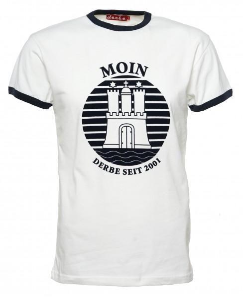 pretty nice 943b7 a2ab5 Derbe T-Shirt Moin Hamburg Herren Weiß