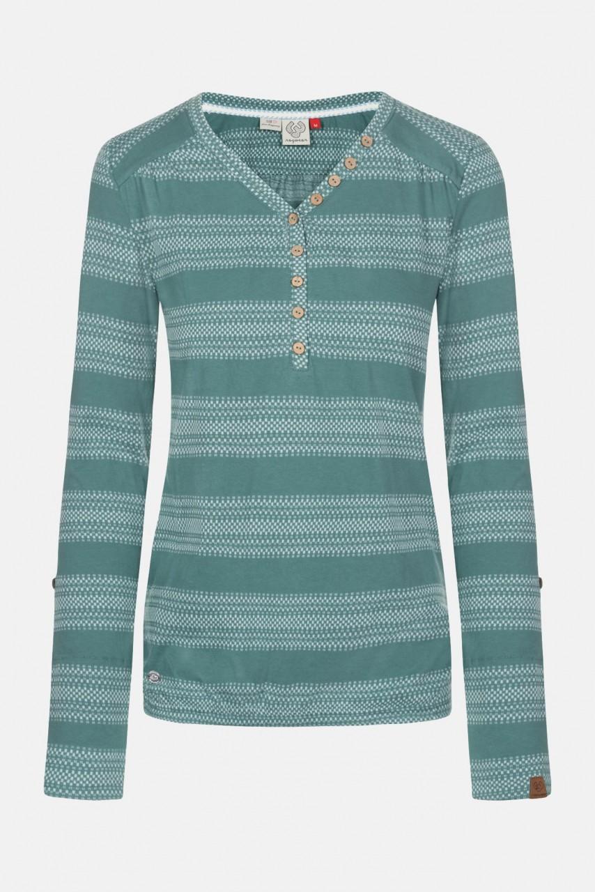 Ragwear Pinch Stripes Dusty Green Damen Langarmshirt Grün