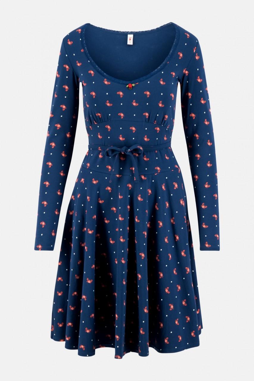 Blutsgeschwister Ode To The Woods Damen Kleid Krabben Print blau