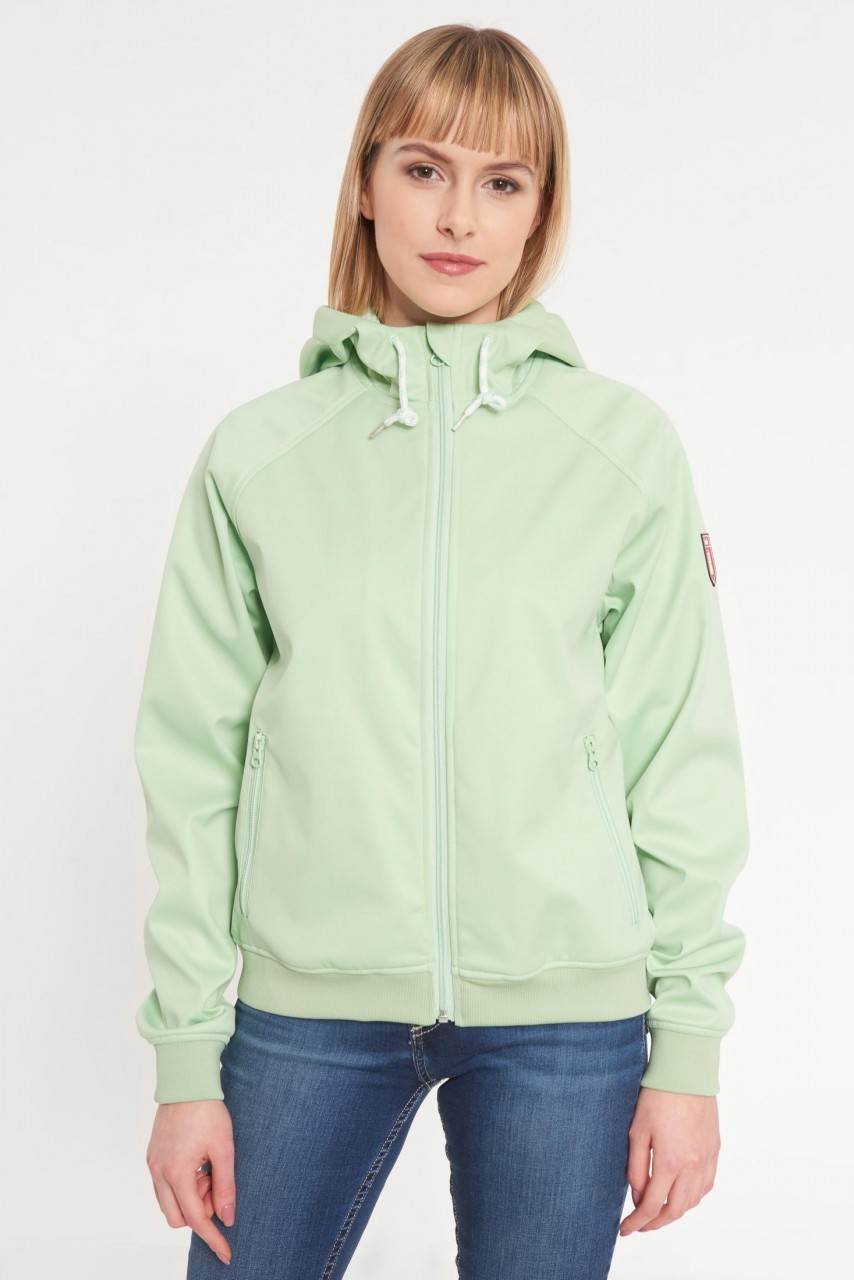 Derbe Islay Damen Softshell Jacke Mintgrün