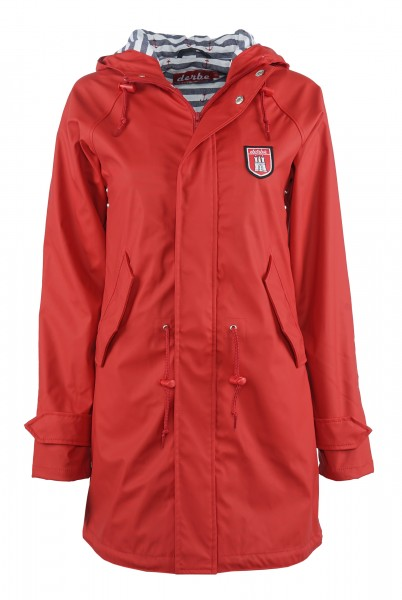 Derbe Travel Friese Striped Rot Friesennerz Regenjacke