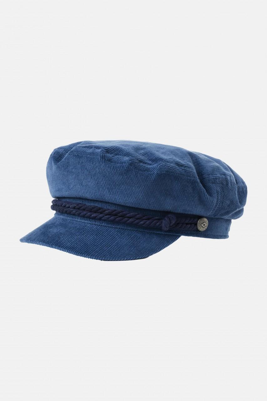 Brixton Fiddler Elbsegler Mütze Navy Cord Blau