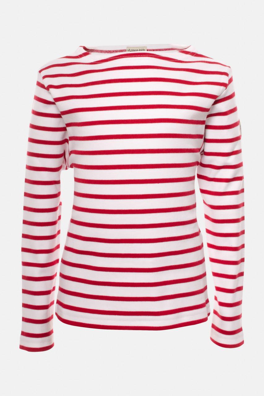 Armor Lux Kinder-Streifenshirt weiß-rot Loctudy Kids