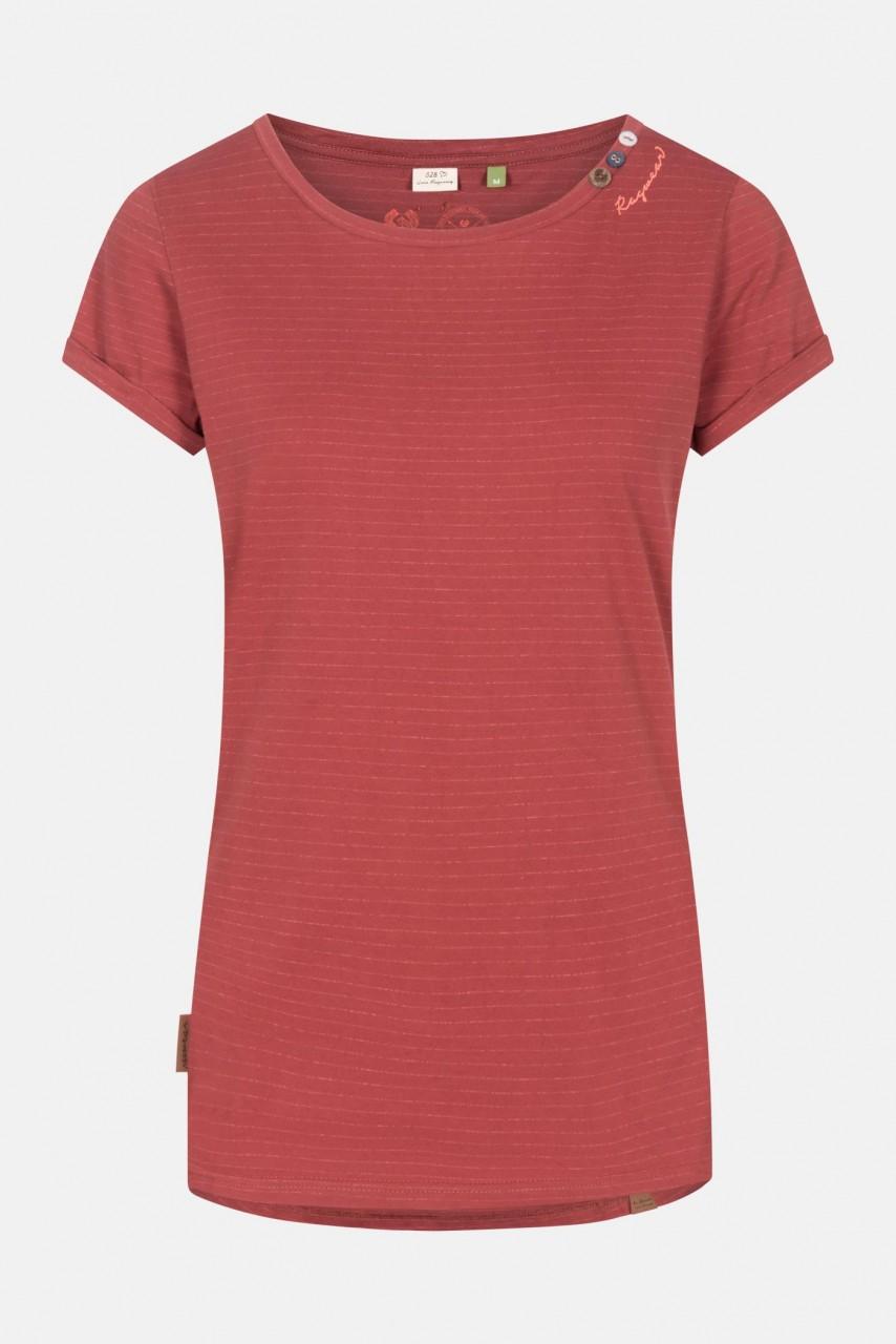 Ragwear Florah C Organic Henna Damen T-Shirt Rostrot