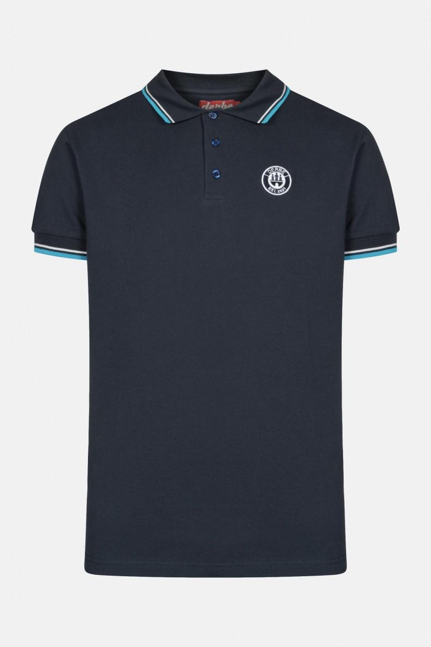 Derbe Herren Polo Shirt Navy Dunkelblau