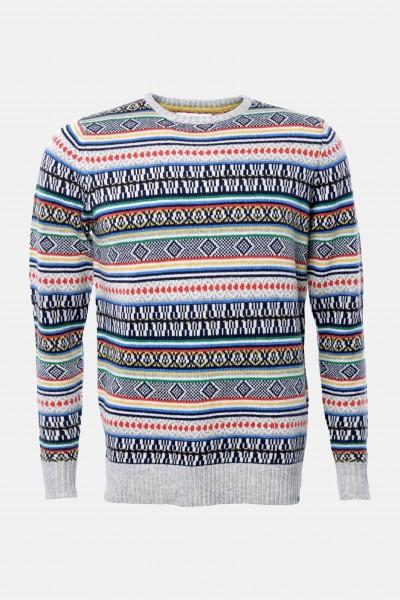 finest selection 881ab b6e77 RVLT Revolution Herren Pullover Multi Color Gestreift
