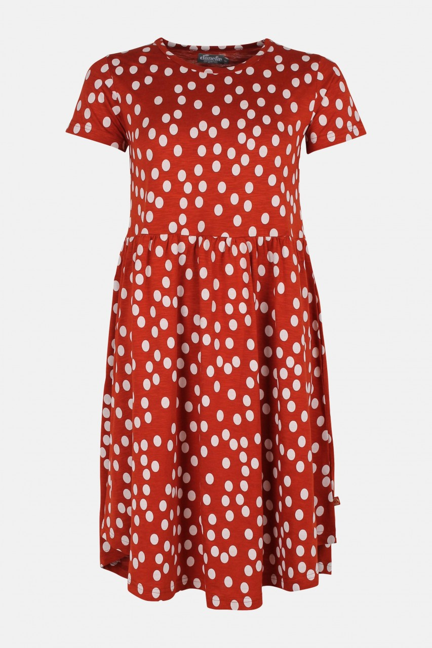 Danefae Damen Kleid Nielsen Punkte Dots Rot