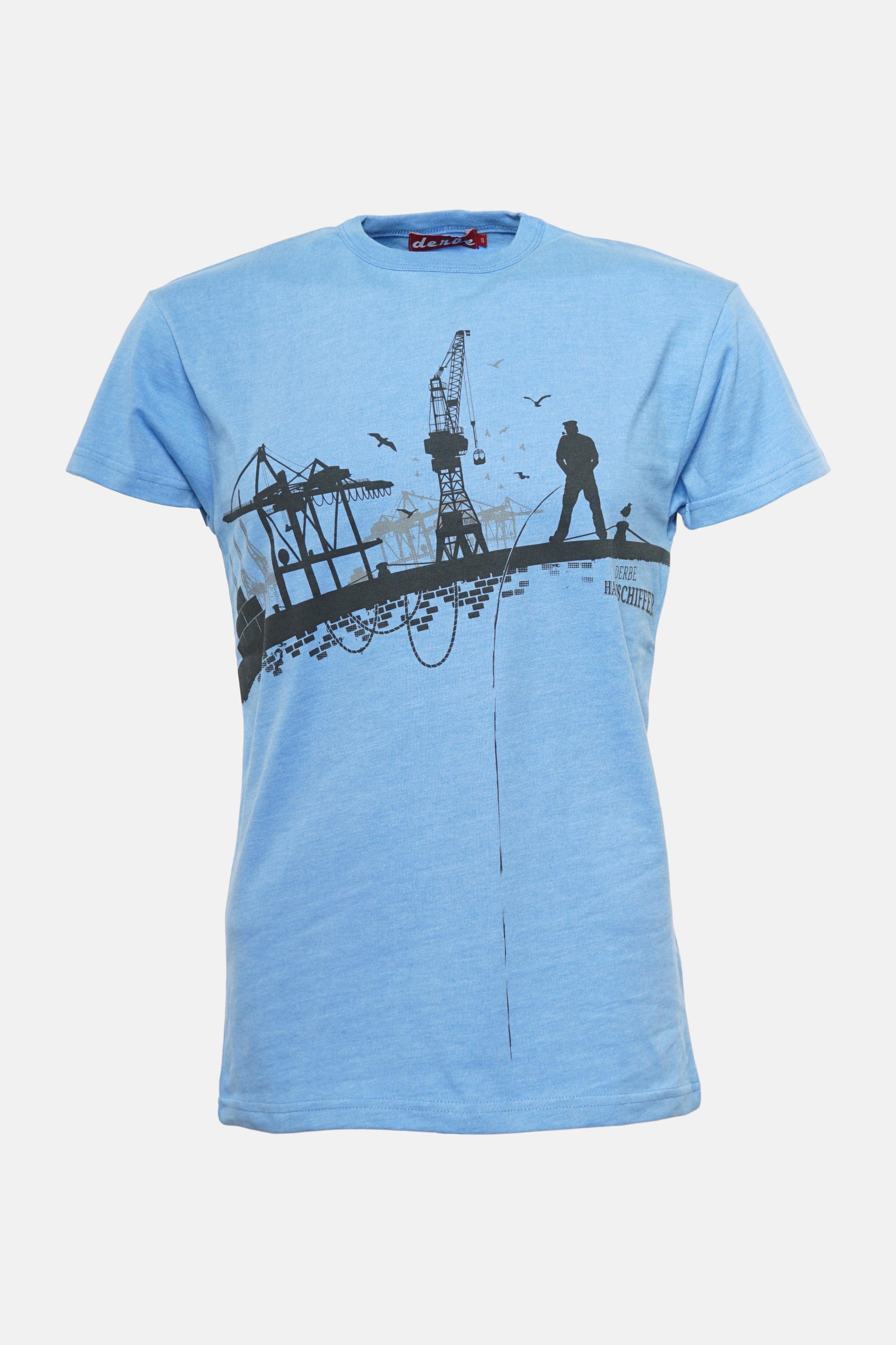 6ec15189217546 Derbe T-Shirt Hafenschiffer Herren Blau | Hanseheld.de