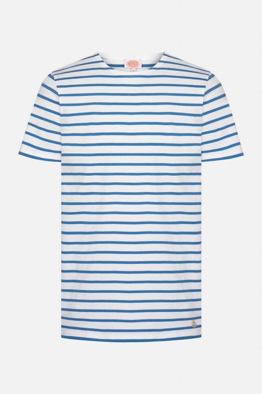 Armor Lux Mariniere Hoedic Herren T-Shirt Weiß Blau