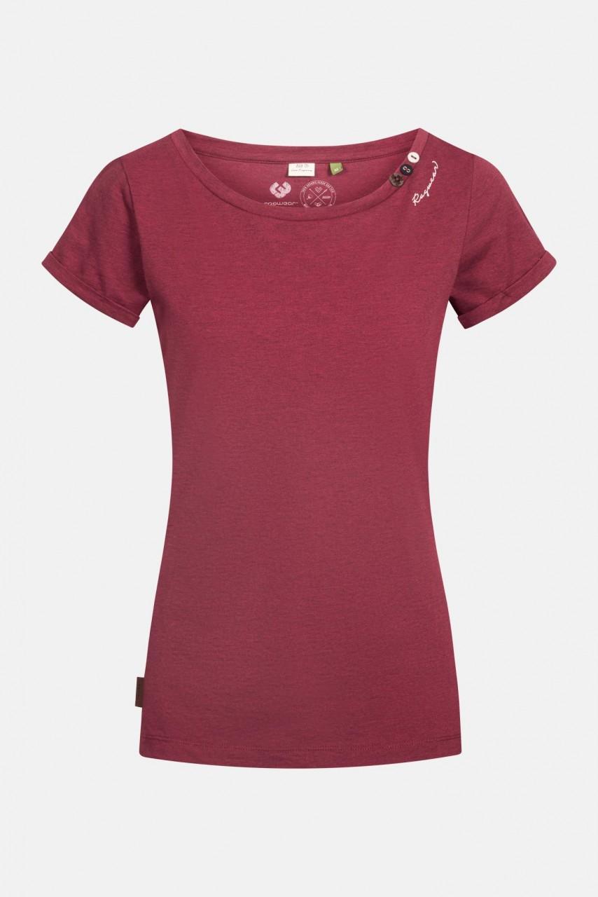 Ragwear Florah A Organic Damen T-Shirt Weinrot