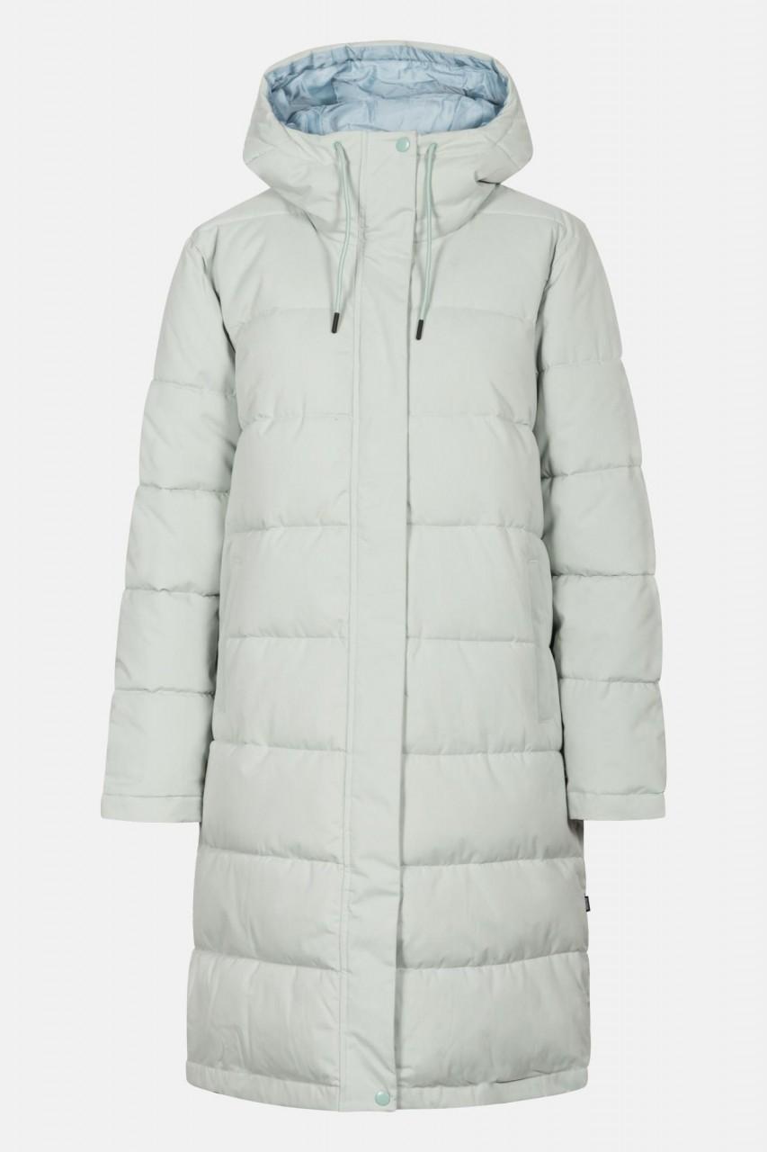 Selfhood Hooded Puffer Coat Damen Wintermantel Mintgrün