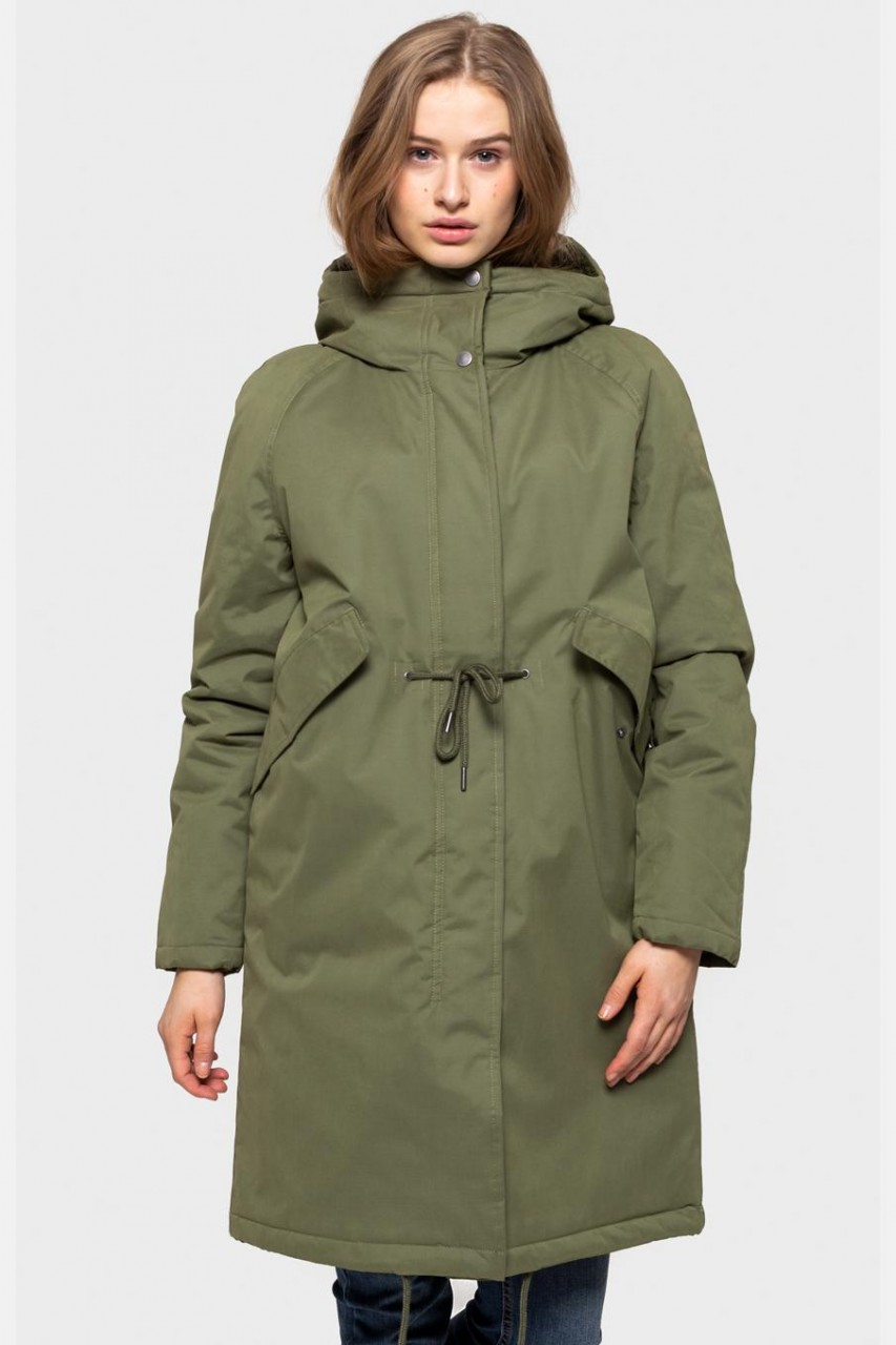 Selfhood Parka Jacket Damen Wintermantel Army Oliv