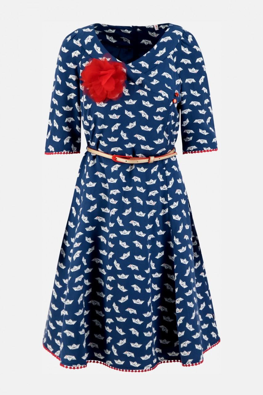 Blutsgeschwister Rumbling Rose Damen Kleid Schiff Print