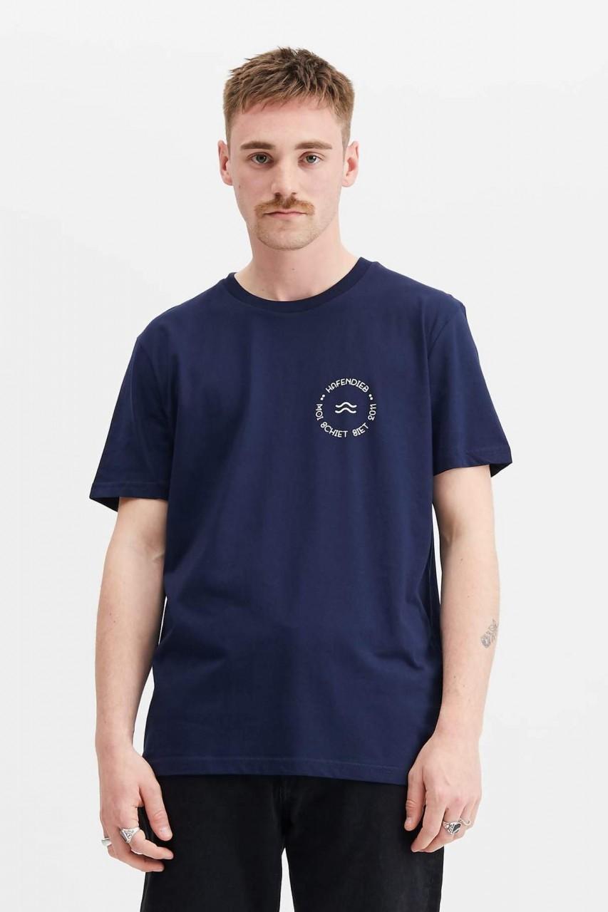 Hafendieb Welle Retro Männer T-Shirt dunkelblau