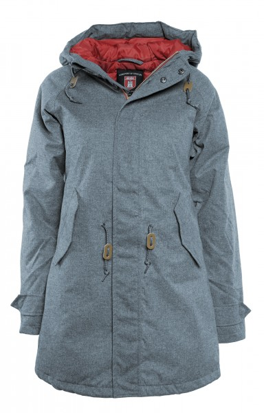 Derbe Watt n Winter Damen Grau Meliert Winterjacke