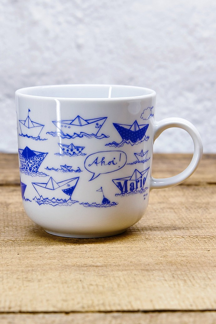 Ahoi Marie Schifferbecher Papierschiffe