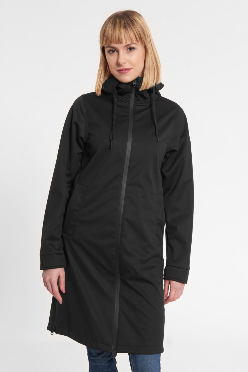 Derbe Colonsay Damen Softshell Mantel Schwarz