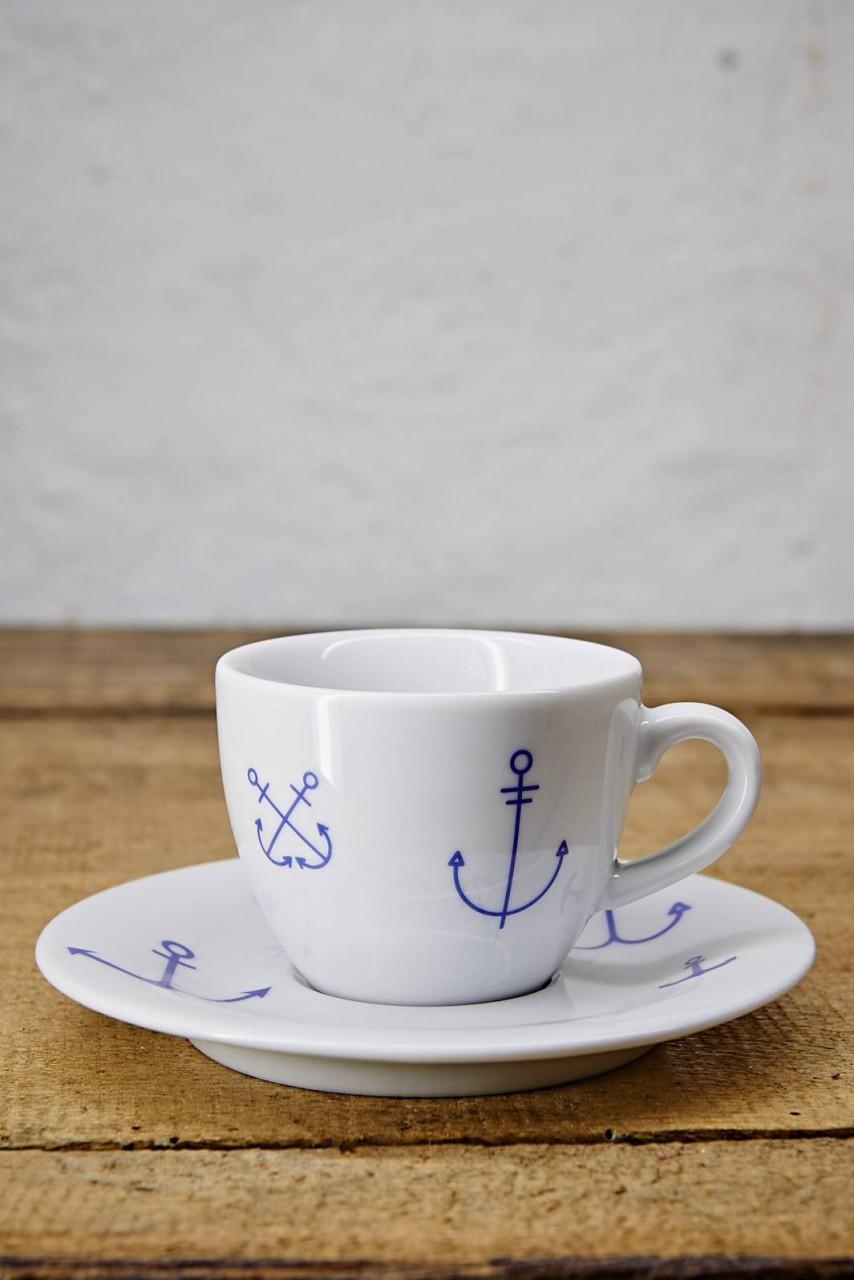 Ahoi Marie Espressotasse und Untertasse Ankerwelt