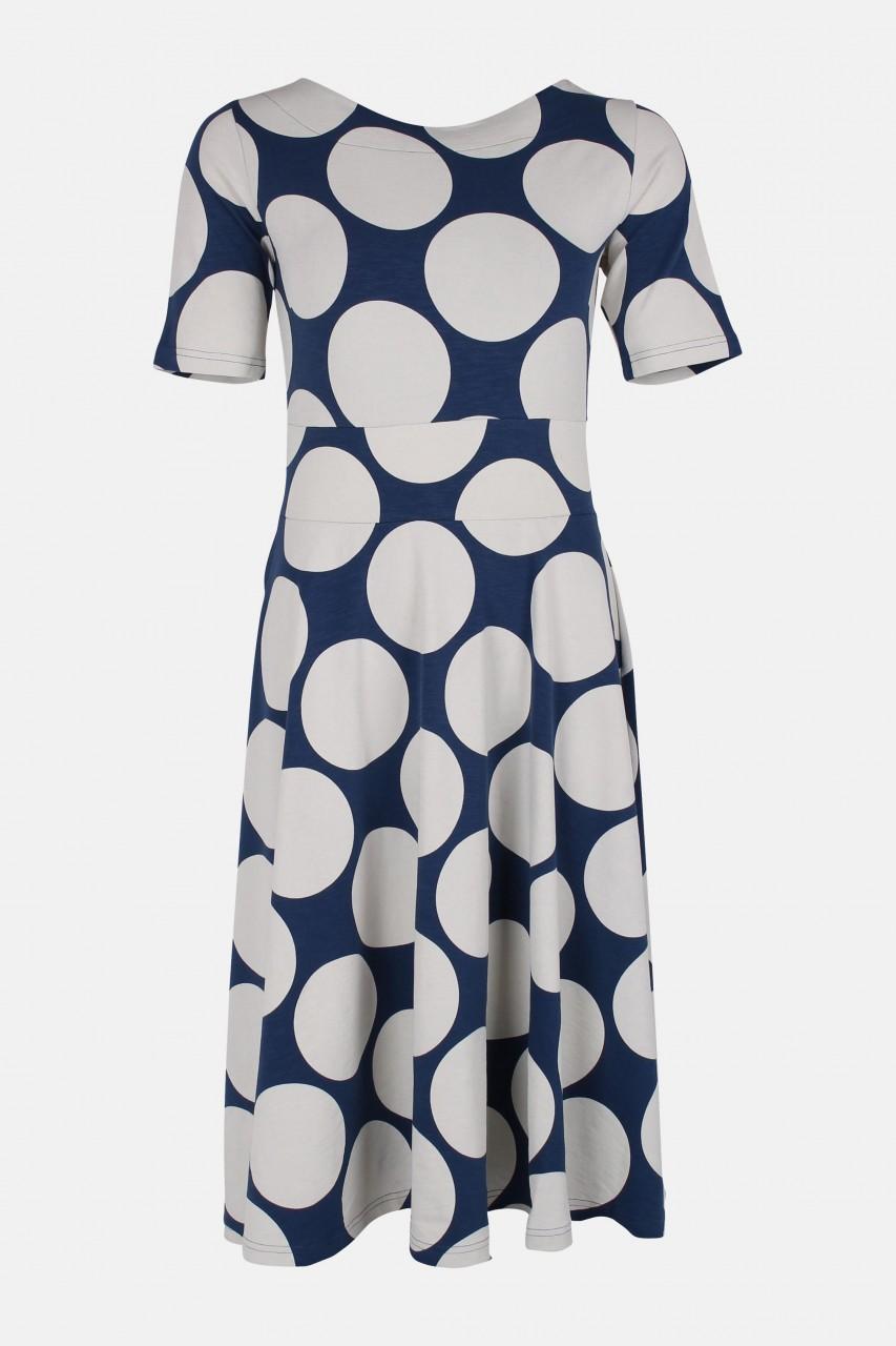 Danefae Charlotte blau weiß gepunktet Damen Kleid