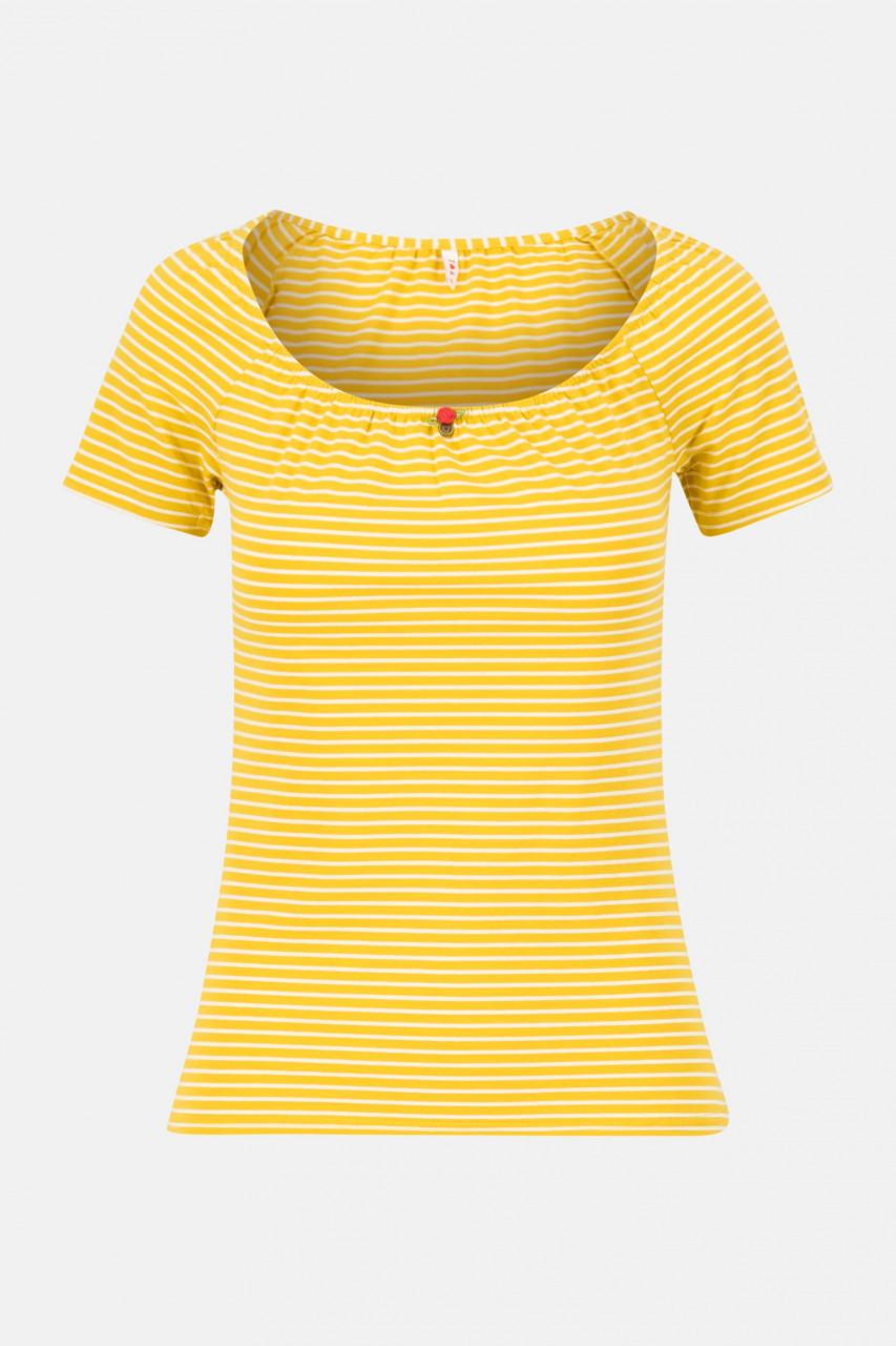 Blutsgeschwister T-Shirt Logo Stripe Heart Yellow Gelb Gestreift