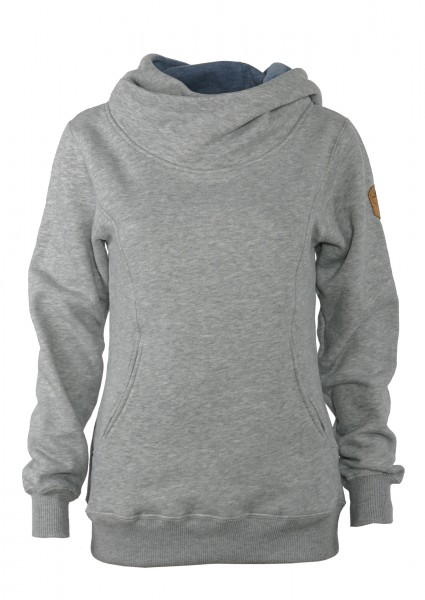 Derbe Off Road Damen Hoody Grau Melange