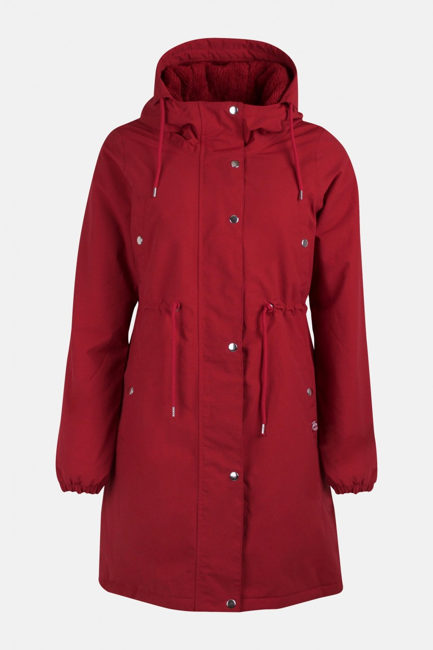 Danefae Nora Winter Parka Dunkelrot Damen Wintermantel