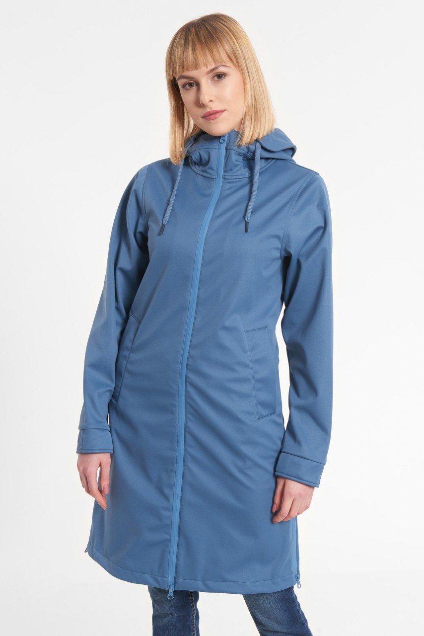 Derbe Colonsay Damen Softshell Mantel Blau