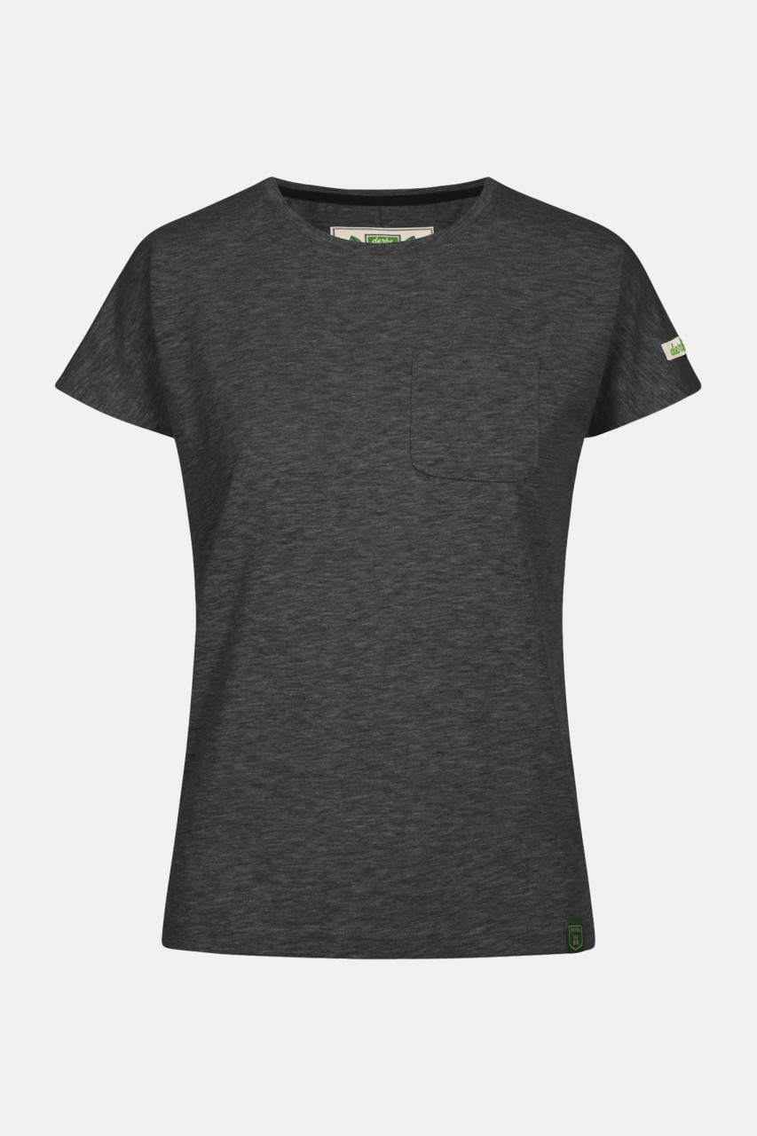 Derbe Alani Damen Shirt Gots Organic Dunkelgrau Melange
