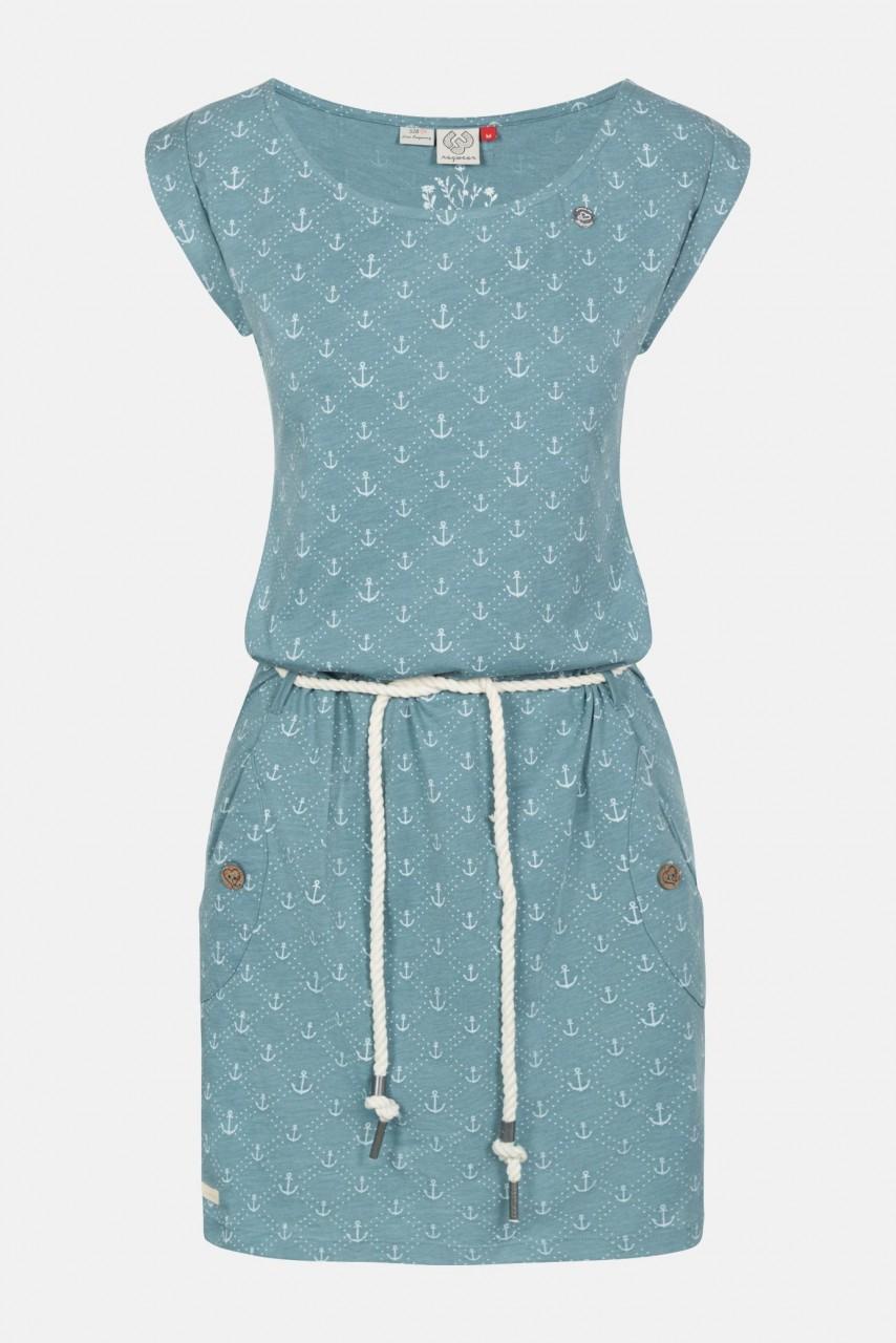 Ragwear Tag Marina Arctic Blue Damen Kleid Türkis Anker