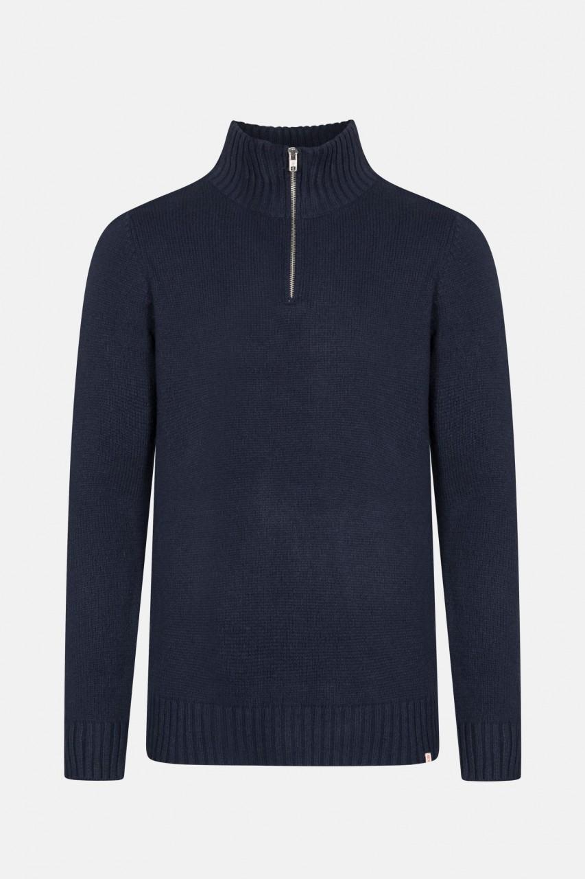RVLT Revolution Half-Zip Pullover mit Reißverschluss Dunkelblau