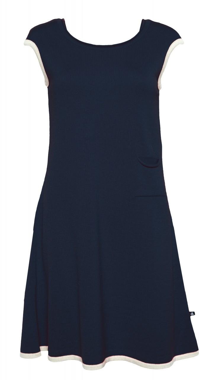 Royal Mer Merino Kleid Trapèze Navy Paola Blau