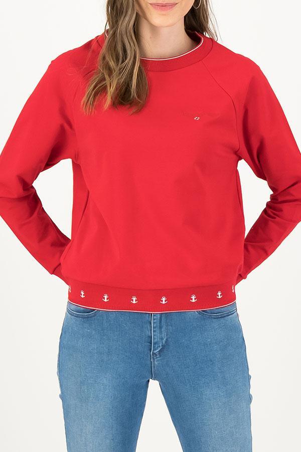 Blutsgeschwister Damen Pullover Fresh N Fruity Sweat Rot Anker