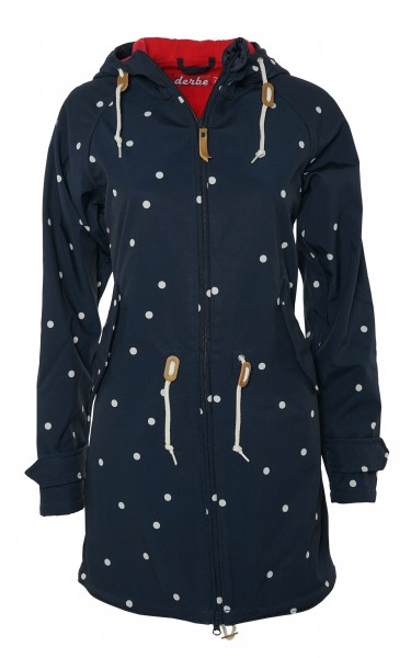 Derbe Island Friese Dots Punkte Blau Softshell Jacke