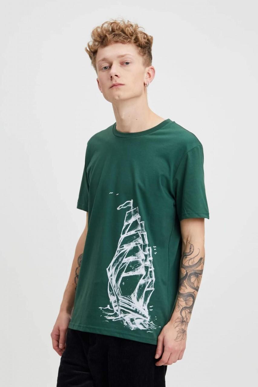 Hafendieb Schiff Männer T-Shirt Grün