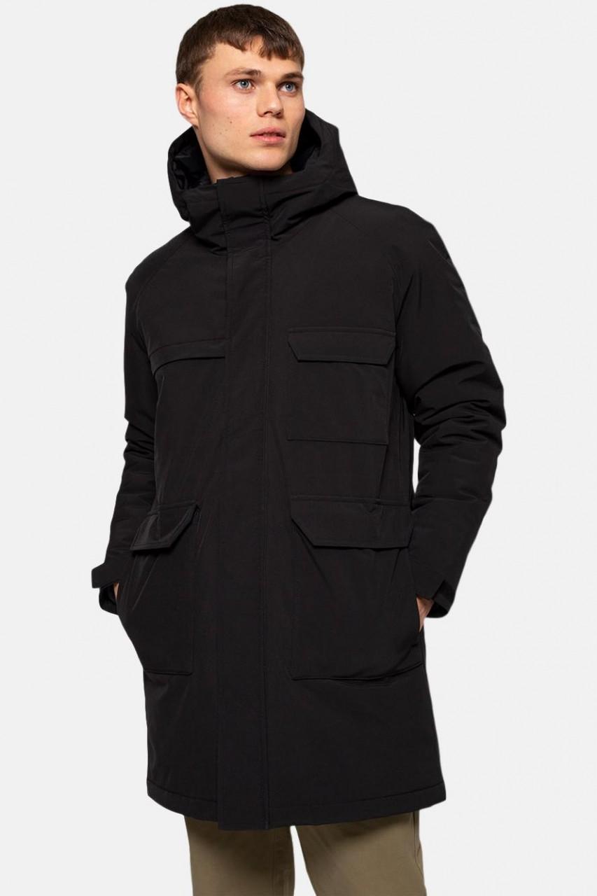 RVLT Revolution Utility Coat Black Herren Wintermantel Schwarz 7694