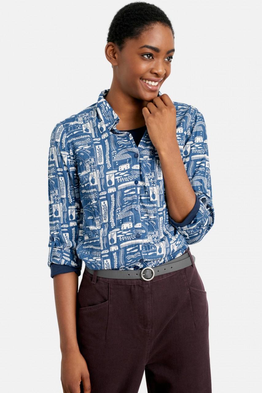 Seasalt Cornwall Larissa Shirt Bryans St Ives Sailor Damen Bluse Blau