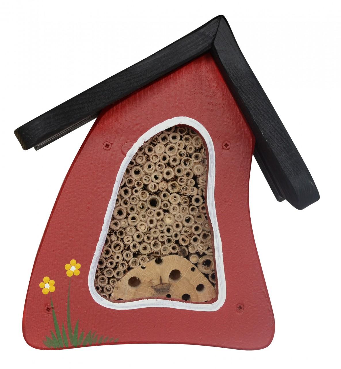 Insektenhotel Insektenhaus Mini Rot