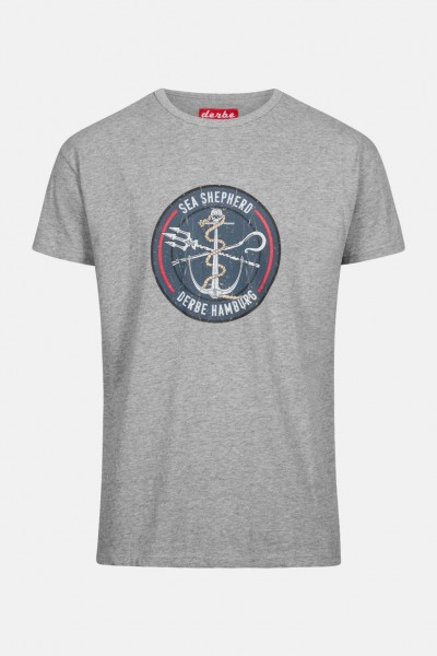 Derbe Herren Shirt Sea Shepherd Barsch Grau