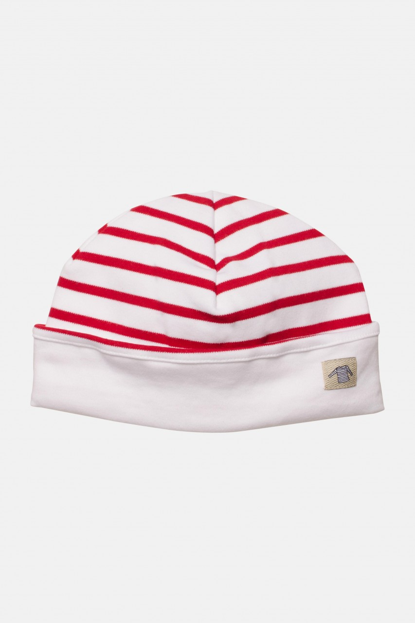 Armor Lux Kinder-Mütze weiß-rot