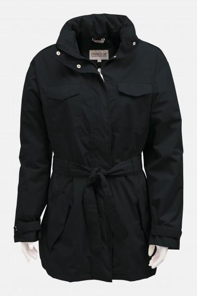 Damen Outdoor-Trenchcoat Jessica Schwarz Pro-X