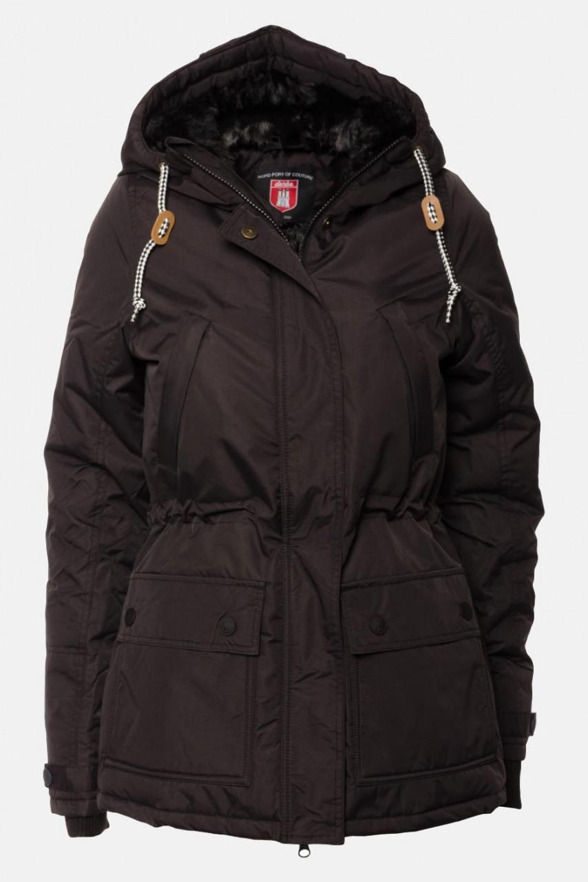 B-Ware Derbe Mastwurf Winterjacke Schwarz Größe 40