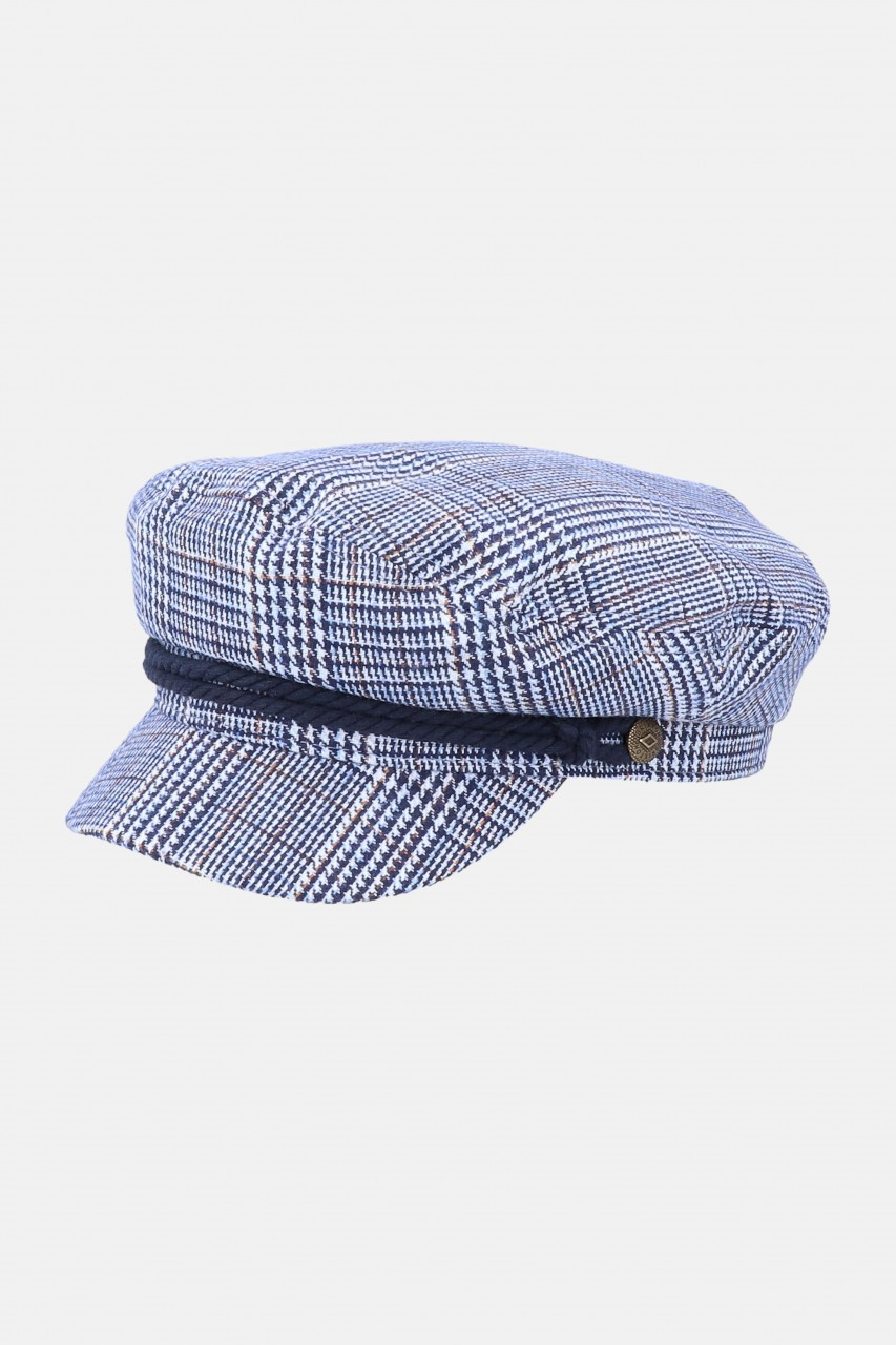 Brixton Fiddler Cap Joe Blue Elbsegler Mütze Blau Weiß
