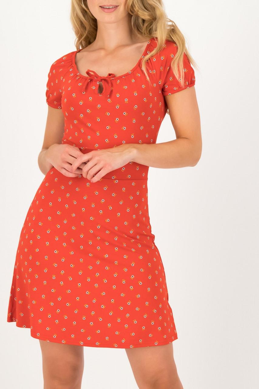 Blutsgeschwister Kleid Rot Heart On Fire Bloemen Meisje Damen Blumen