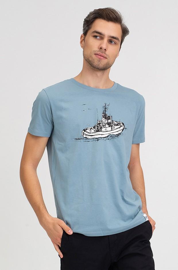 Hafendieb Schlepper Männer T-Shirt Citadel Hellblau