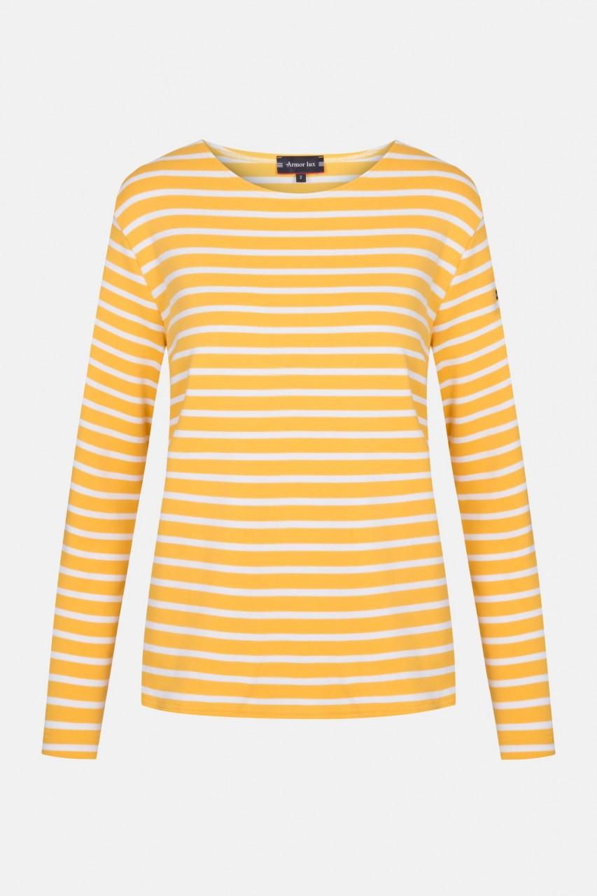 Armor Lux Lesconil Damen Streifenshirt Gelb Weiß