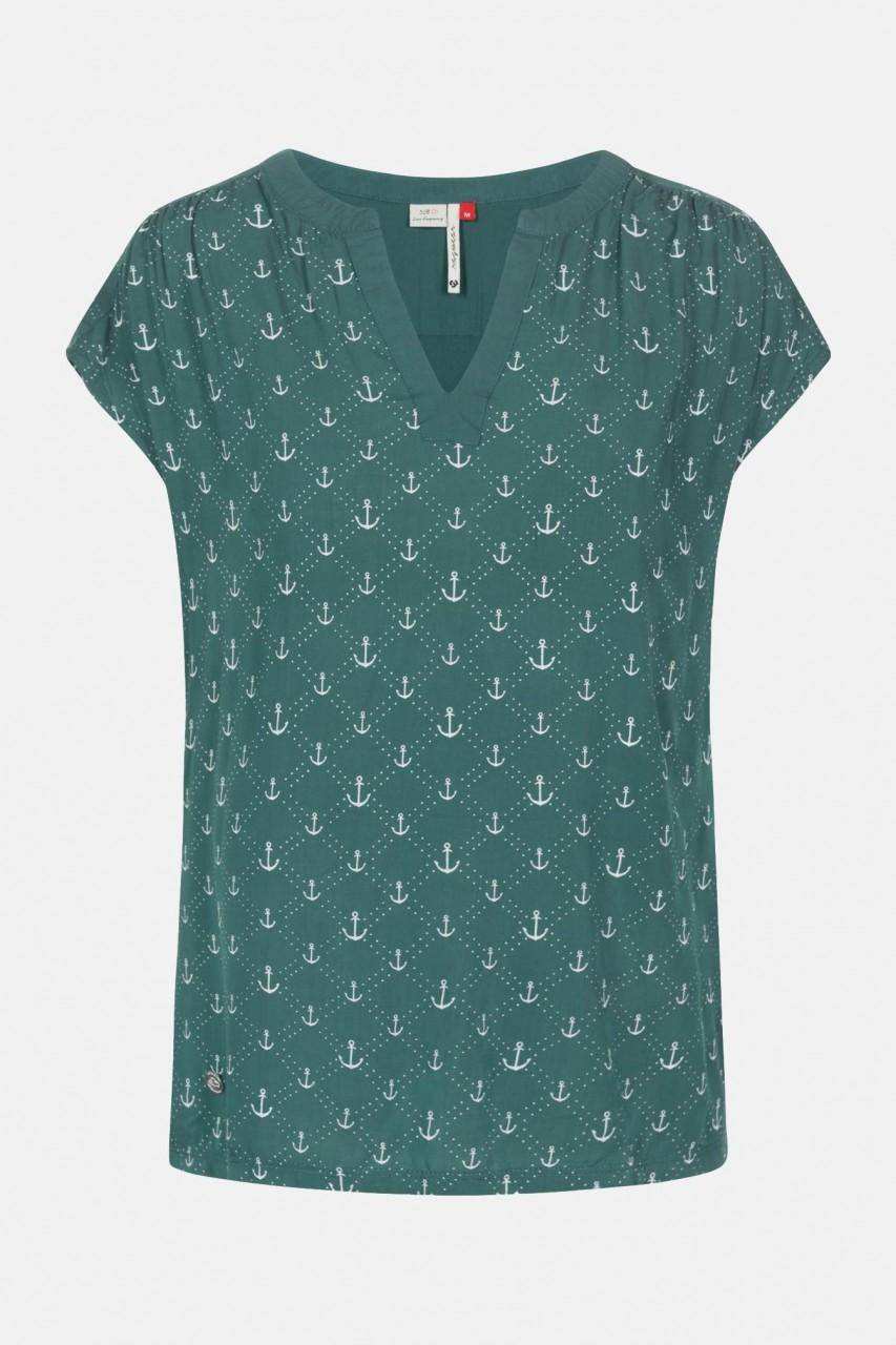 Ragwear Harria Dusty Green Damen T-Shirt Anker Grün
