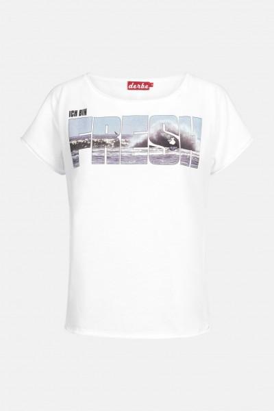 Derbe Fresh Damen Shirt Weiß Welle