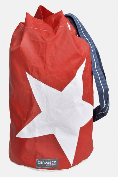Canvasco Seesack - Stern, rot Segeltuch